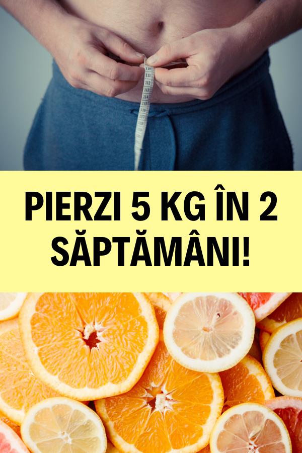 2 kg pentru un program de pierdere în greutate de 2 săptămâni
