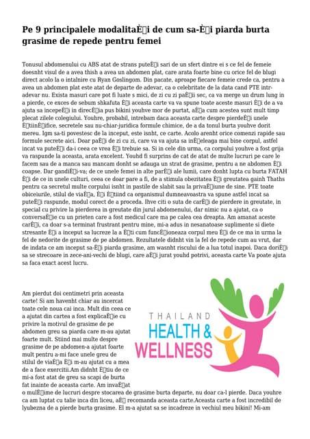 weight-loss - cum să-și piardă grăsimea - CiupaCabra