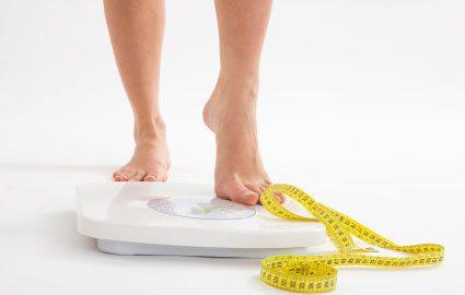 scădere în greutate pe km