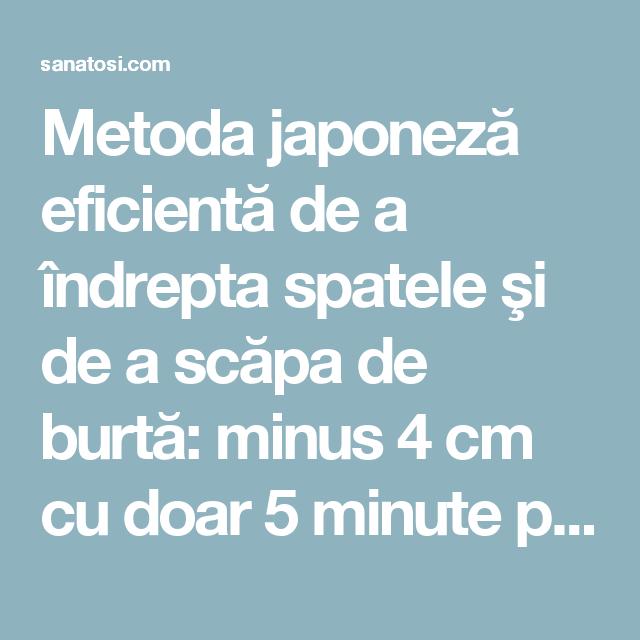Metoda japoneză de comentarii pierdere în greutate